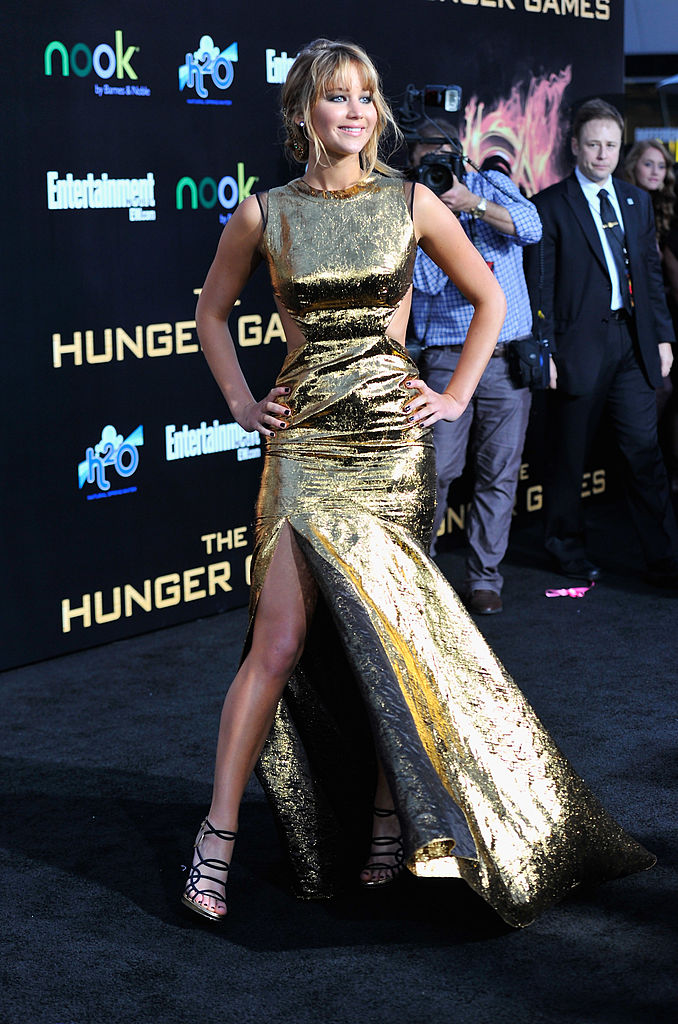 LOS ANGELES, CA - MARCH 12: Actress Jennifer Lawrence arrives to the premiere of Lionsgate