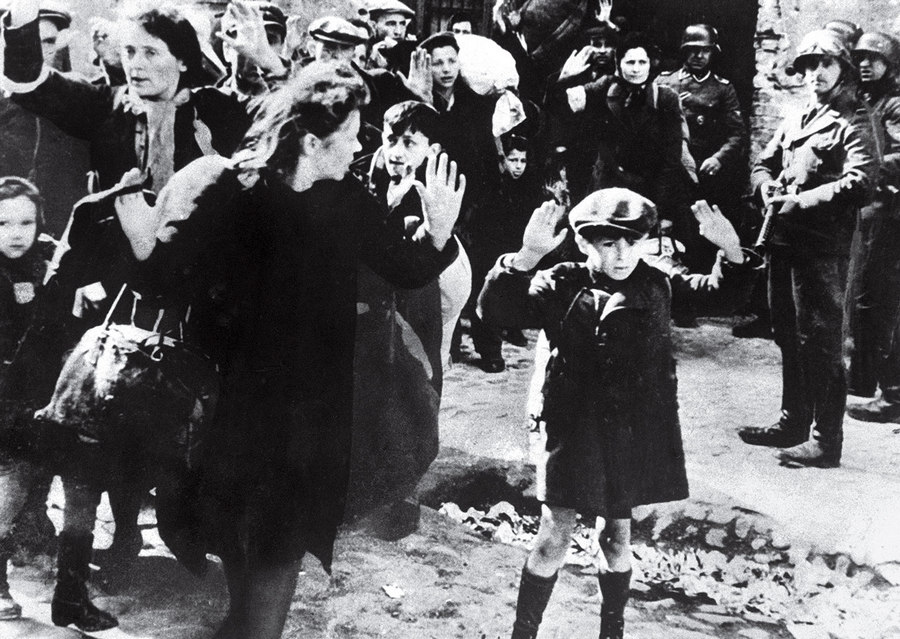 Jewish Boy Surrenders in Warsaw Unknown 1943