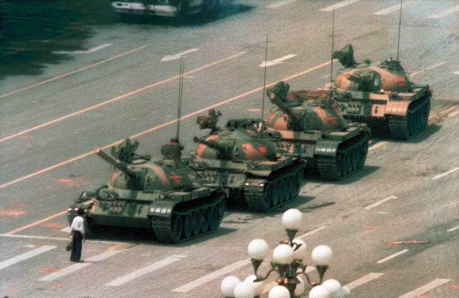 Tank Man Jeff Widener 1989