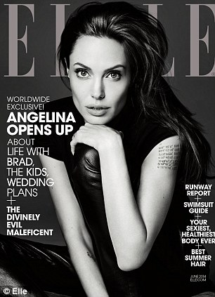 Demure: Angelina looks very different, 19 years on as Elle