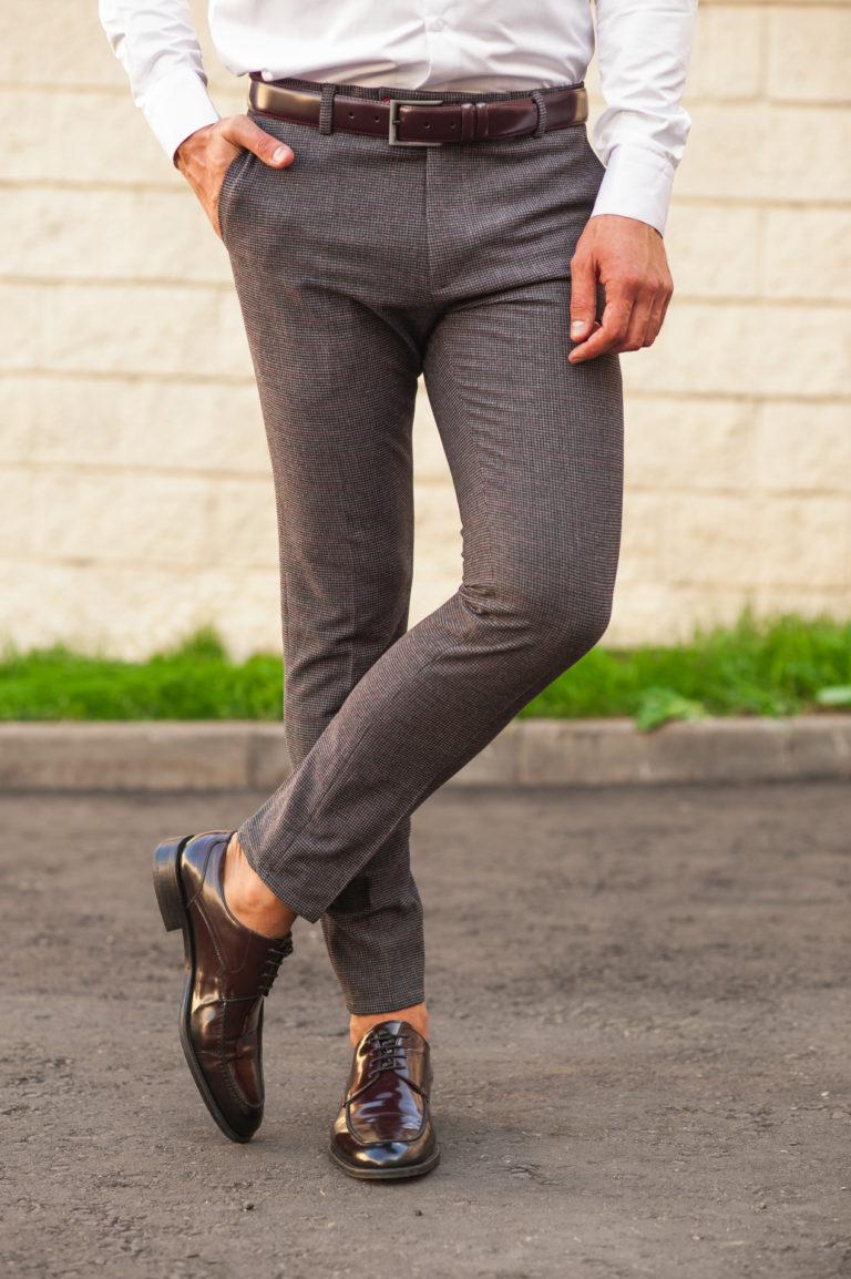 какие туфли под серые брюки