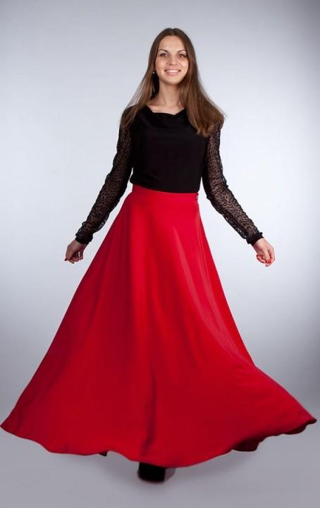 юбка полусолнце с поясом